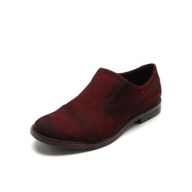 da8d352643a Sapato Social Couro Pegada Recortes Vinho Pegada 121974-07 masculino