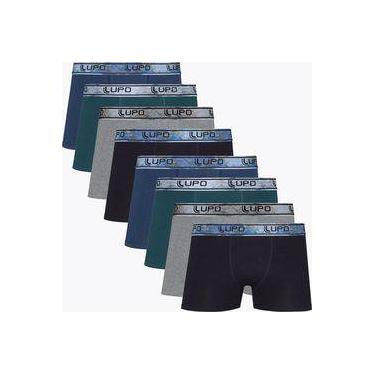 f384da517 Kit Com 8 Cuecas Boxer Algodão Com Elastano 603-010 - Lupo
