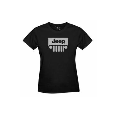 Camiseta Do Jeep Estampa Prata - Feminina
