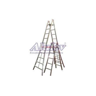Escada Alumínio Pintor 17 Degraus - 5,40 m (Alulev)