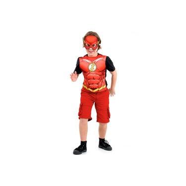 Imagem de Fantasia The Flash Infantil Kit com Peitoral e Máscara