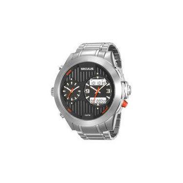 edb7e3aa747 Relógio de Pulso Masculino Seculus Aço Resistente a àgua Americanas ...