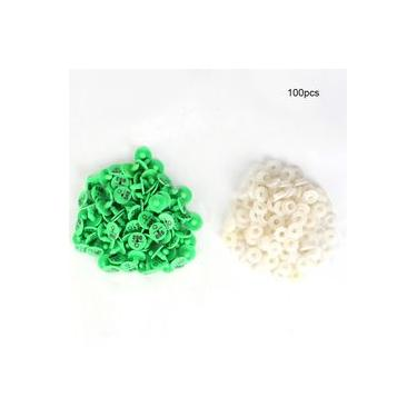 Labelable for Animal, 100 Pieces Plastic Ear Tags Number Rabbit Fox Dog Ear Marker Label for Animal Livestock Information Management