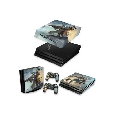 Capa Anti Poeira e Skin para PS4 Pro - Titanfall 2 #A