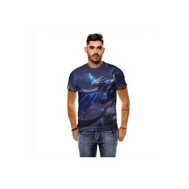 Camiseta League Of Legends Anivia Gelo Sombrio Masculina Slim
