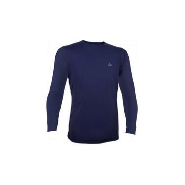 Camiseta Dry Cool UPF50+ Masculina Manga Longa Conquista Azul Marinho