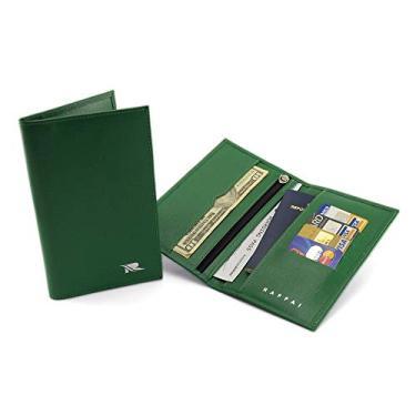 Carteira Porta Passaporte Raffai Em Couro - Modelo 19R (Verde)