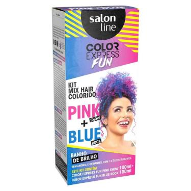 Imagem de Kit Tonalizante Salon Line Color Express Fun Pink+Blue 100ml