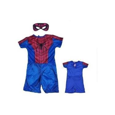 Imagem de Fantasia Infantil Homem Aranha Spider Man 1 Ao 8 C/ Mascara