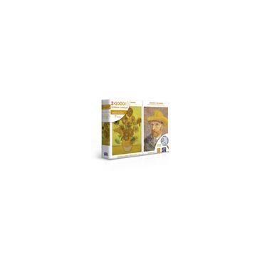 Imagem de Quebra-Cabeça 2x 1000 Peças Retrato e Girassóis - Van Gogh - Toyster