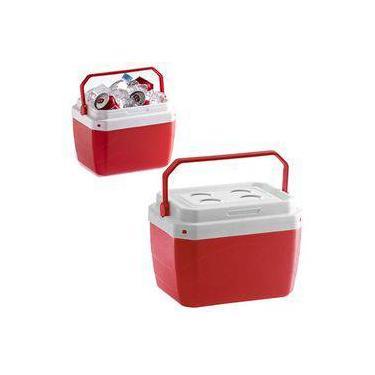 Imagem de Caixa Termica De Plastico Vermelha 17 Litros  39,5x31x25,5cm