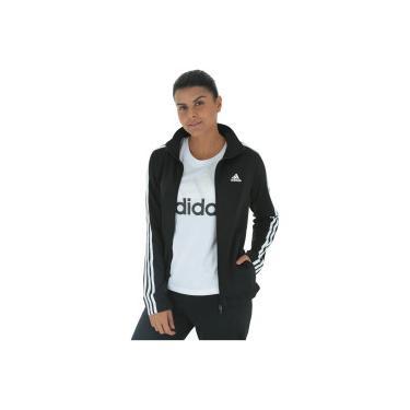 Agasalho adidas Back 2 Basics 3S - Feminino - PRETO BRANCO adidas fe6297386ddb8