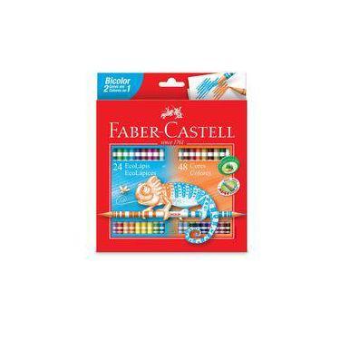 b1c76498b8 Lápis De Cor Bicolor C  48 Cores - Faber Castell