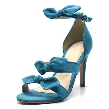Sandália Salto Fino Gisela Costa Azul  feminino