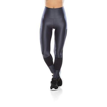 Legging Fitness Tela Lateral - Grafite - P