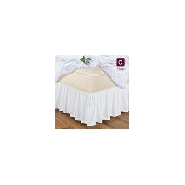 Imagem de Saia Box Cama Casal Com Elástico Branca