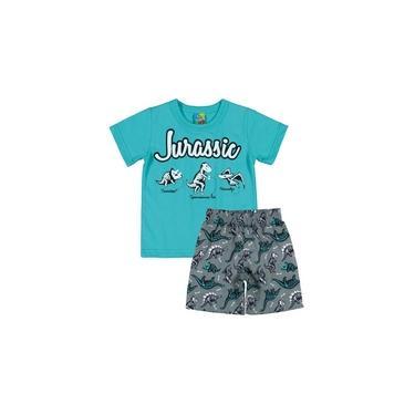 Conjunto Bee Loop Camiseta e Bermuda Jurassic Verde
