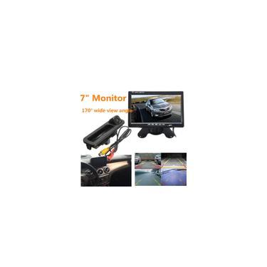 Vista traseira do carro Estacionamento Câmera de ré para Ford / Focus 3 Mk3 2014 Visão noturna + 7 polegadas tft lcd Monitor de carro espelho retrovisor