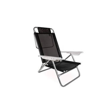 Cadeira de Praia Reclinável Summer Preta Mor