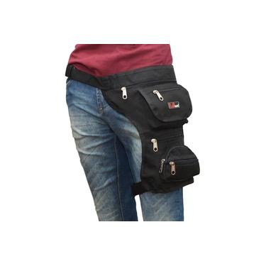 Pochete Cartucheira Bolsa De Cintura E Perna Em Lona