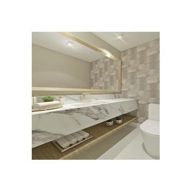 Pia de Banheiro com Cuba Esculpida em Marmore Branco Carrarinha 70cm x 50cm Elegance FALM