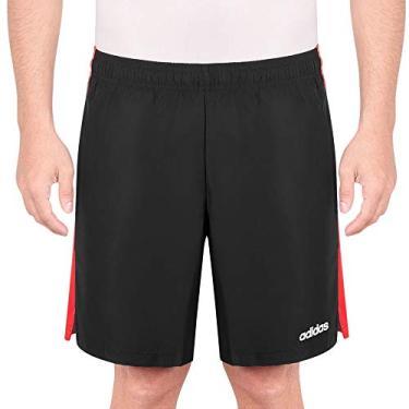Shorts Adidas SP3 Preto e Vermelho-M