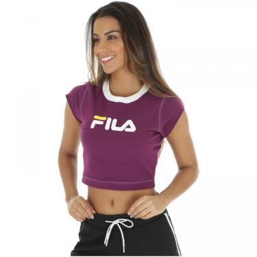Blusa Cropped Fila Pia - Feminina Fila Feminino