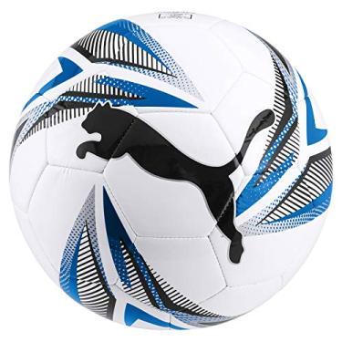 Bola Puma de Futebol Campo Big Cat - Branco e Azul