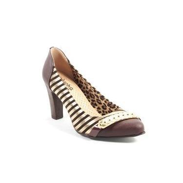 Sapato Feminino Valent Listrado Miucha