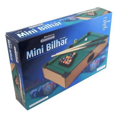 Mini Mesa De Sinuca Bilhar Infantil C/ 2 Tacos E 16 Bolas Em Madeira