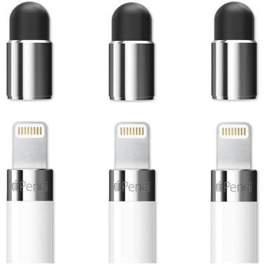 Imagem de FRTMA [2 em 1] para substituição da tampa de lápis da Apple/como Caneta para Todos os Tablets/Celulares touch Screen (Pacote de 3)