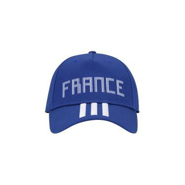 0f9b8b95c Boné Aba Curva França 3S 2018 adidas - Snapback - Adulto - AZUL BRANCO  adidas