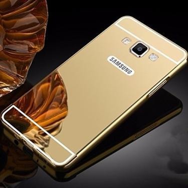 05b9c0f2b Capa Case Bumper Alumínio Espelhada Samsung Galaxy A5 A500 Dourado