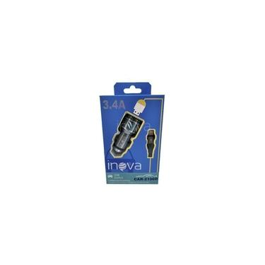 Carregador Veicular Rápido 3.4 A Rápido Iphone Inova 2 Usb