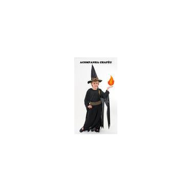 Imagem de Fantasia infantil Halloween Bruxa Feiticeira com chapéu