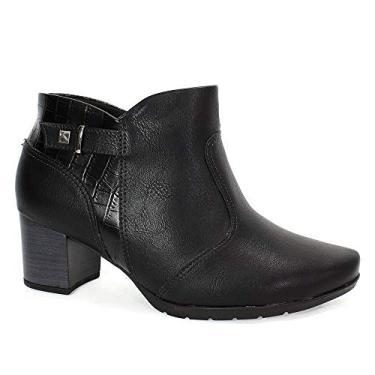 Bota Piccadilly Ankle Boot Feminina Preta 35