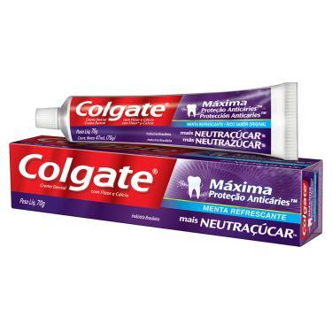 Creme Dental Colgate Máxima Proteção Anticáries Mais Neutraçucar com 70g 70g