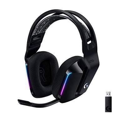 Imagem de Headset Gamer sem Fio Logitech G733 7.1 Dolby Surround com Tecnologia Blue Vo!Ce, RGB LIGHTSYNC, Drivers de Áudio Avançado e Bateria Recarregável Para Pc, Playstation, Xbox e Nintendo Switch - Preto