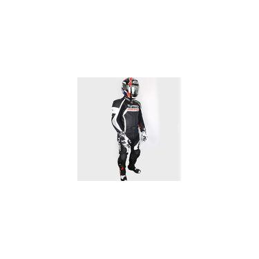 Macacão Tutto Moto Racing Branco E Vermelho - 2 Peças