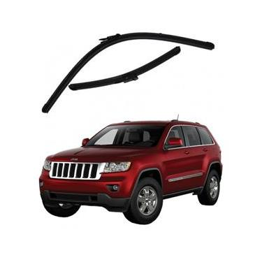 Kit Palhetas Limpador de Parabrisa Dianteiro Jeep Grand Cherokee Ano 2012 - Atual