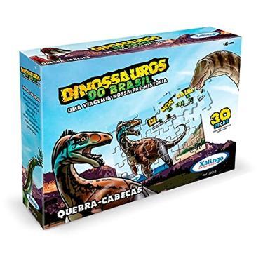 Imagem de Quebra Cabeça 30 Peças Dinossauro Brasil 2000.9 Xalingo