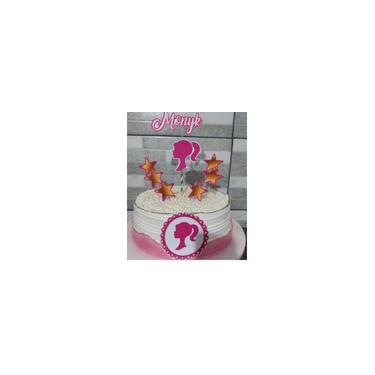 Imagem de Topo de bolo tema barbie com O nome que deseja personalizado