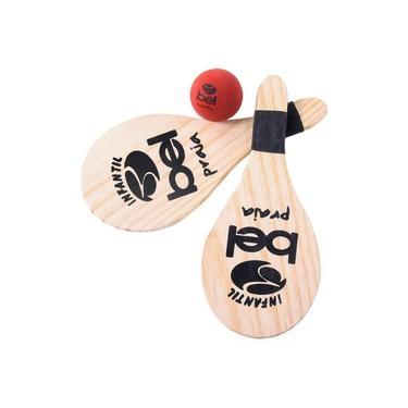 Kit Tênis de Praia Infantil de Brinquedo Frescobol BELFIX