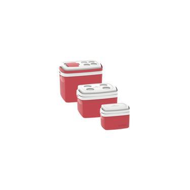 Imagem de Kit 3 Caixas Termicas 32L/12L/5L Cooler Soprano Vermelho