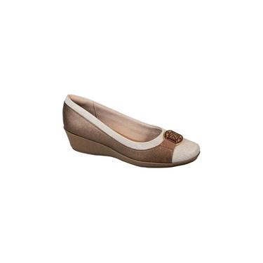 Imagem de Sapato Anabela Comfort Metalizado Bronze