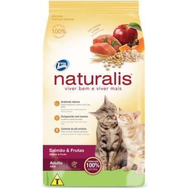 Ração Total Naturalis Salmão e Frutas para Gatos Adultos - 3 Kg