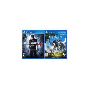 Jogos Uncharted 4: A Thief's End E Horizon: Zero Dawn - Ps4