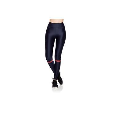 Calça Legging Fitness Textura Duna - Azul Marinho