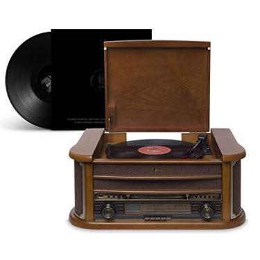 Radio Toca Discos Vitrola Retro Ópera BT Bluetooth Rádio Cd Usb Vinil Vintage Bivolt