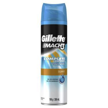 Gel de Barbear Gillette Mach3 Complete Defense Suave 198g